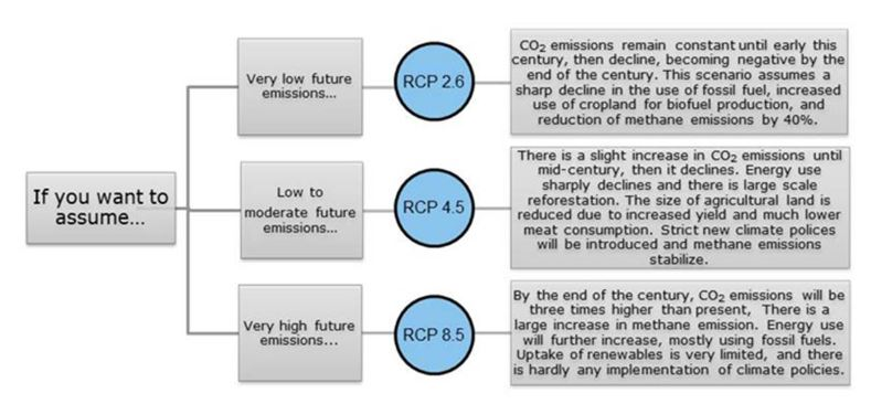 Description of the 3 RCPs